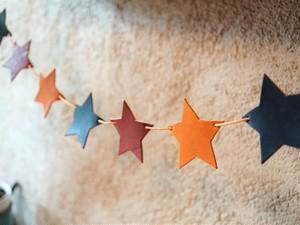 【クラフトキット】お部屋を明るく♪ 星のガーランド