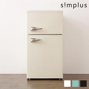 2ドアレトロ冷蔵庫 85L SP-RT85L2