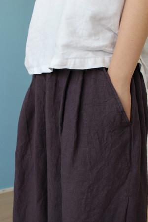 ワッシャーリネンキュロットスカート 受注製作(オーダー品)M〜3Lサイズまで
