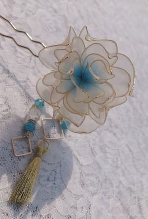 蓮の花のかんざし