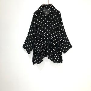 ◼︎90s dot pattern mesh shirt jacket from U.S.A.◼︎