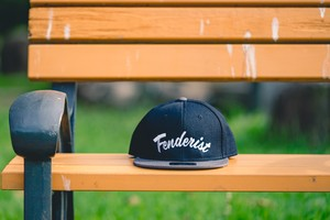【送料無料】Flat Visor Cap [Black/Charcoal] Leaves - Fenderist