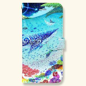 【受注生産】「海の星」手帳型スマホケース【Lサイズ】