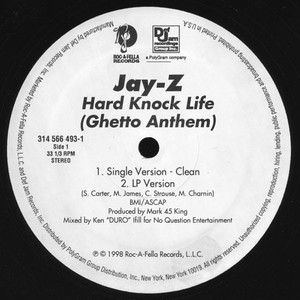 Jay-Z - Hard Knock Life (Ghetto Anthem) (12inch) 45 King [hiphop] 試聴 fps7906-18