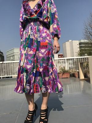 Susan freis purple geometric print dress