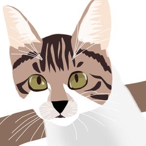 八十匹のネコ達 特製シルクスクリーン #055