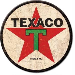 引続きセール主力商品20%OFF!  【ブリキ看板】 Texaco '36 Logo Round  【ティンプレート】 1798