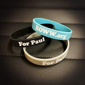 【ROWW公式】WRISTBANDS IN ALWAYS IN OUR HEARTS - BLUE/BLACK/GREY