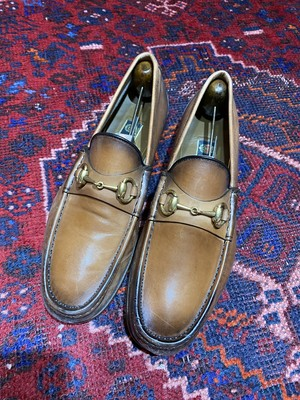 .GUCCI LEATHER HORSE BIT LOAFER MADE IN ITALY/グッチレザーホースビットローファー 2000000047195
