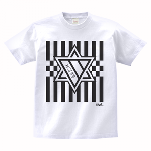 ERICH / HEXAGRAM STRIPE T-SHIRT WHITE