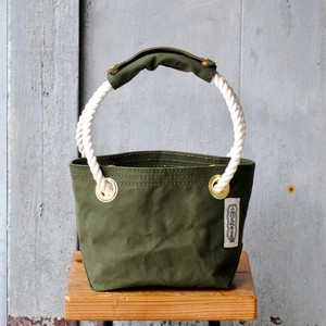 rope tote bag S size オリーブドラブ(パラフィン)