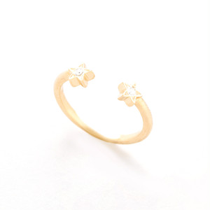 Twinstar ring(Gold)