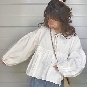 volume sleeve blouse [A-19]