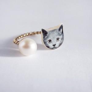 うちの子 * パールリング 本真珠