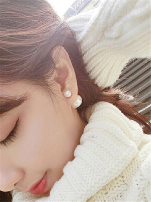 【accessories】Fashion design simple color earrings