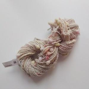 送料込み 手染め羊毛 オリジナル手紡ぎ糸 レインボー染つぶつぶヤーン 40g 711