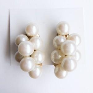 pearl cluster earring[e-1143]