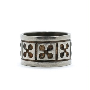 Vintage Sterling Silver Mexican Flower Pattern Ring