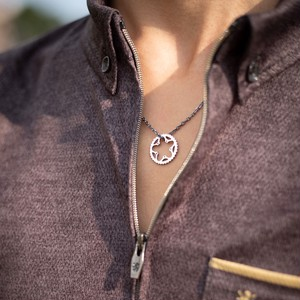 Chainring necklace_Silver / チェーンリングネックレス_シルバー