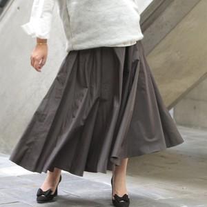 nselection タフタギャザースカート / KH