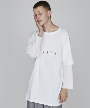 レイヤードロゴビッグTシャツ(オフホワイト)