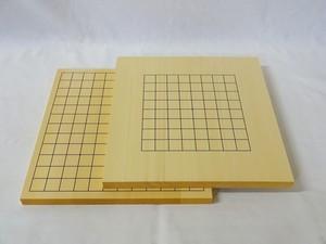碁盤 ヒバ 5号 9路13路接合両面盤(表13路盤、裏9路盤)
