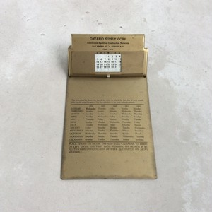 Metal Clipboard / with Calendar