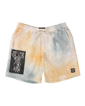 WELCOME SOFT CORE PRINTED CLOUD DYE ELASTIC SHORT CLOUD/BLACK