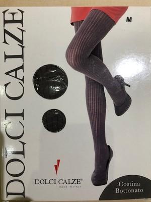 DolciCalze (ドルチカルゼ) 05-2670 リブ編みねっぷ風ミックスカラー入りタイツ