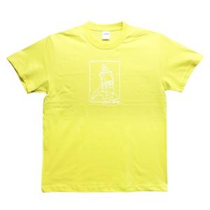 H.I.M tee  yellow/ white