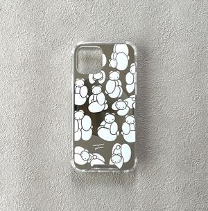 〈受注生産〉iPhoneケース/無垢河原ムクミ(シルバー)