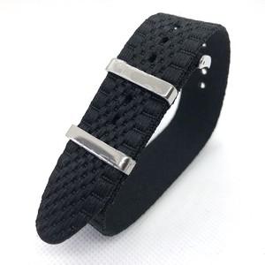 ジュビリー シングルパス(引き通し) ナイロンストラップ ブラック 20mm 腕時計ベルト