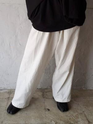 【used】Y's  stripe wide pants ワイズ ストライプワイドパンツ