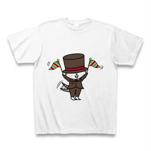 tシャツ 半袖 かわうそ店長×フレーフレー(ホワイト)