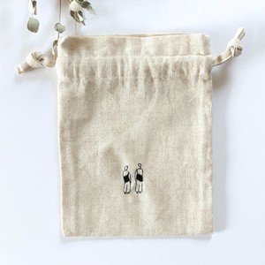 【一点のみ】うれしいお揃い コットンリネン巾着