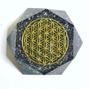 (受注製作)~図形の内なるエネルギー~ 【Power of earth Hokkaido】北海道 大地の力 Hexagonオルゴナイト