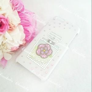 スマホ、iphoneケース【Glassデザイン⑤~ピンク~】
