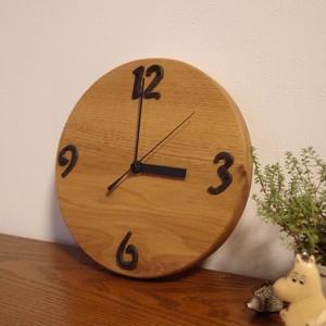 無垢材くるみの掛け時計