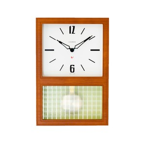 CHAMBRE GLASS PENDULUM CLOCK  【CAFE BROWN】