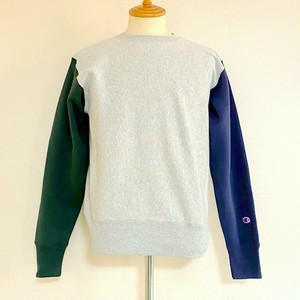 Color Block Sweat Shirts Silver Gray