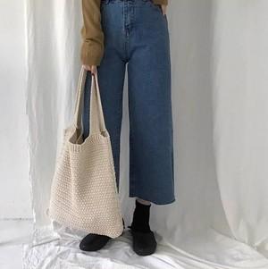 【即納・送料無料】 ニット 編みトート バッグ  Ba35