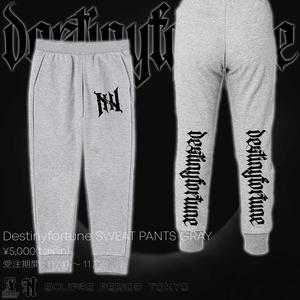 Destinyfortune SWEAT PANTS GRAY