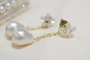 flower×cottonpearl ピアス