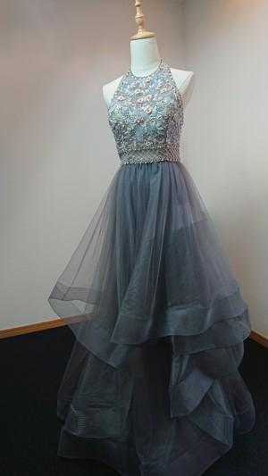 【ソフィア】ベアトップ 豪華ビジュー刺繍のドレス
