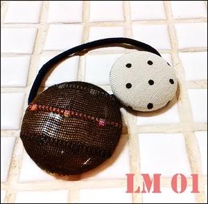 くるみボタン ヘアーゴム LM01
