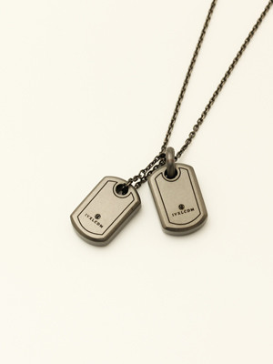 IVXLCDM (アイブイエックスエルシーディーエム) SMALL LOGO DOGTAG W / MATTE BLACK IVX-P887-2 IVX-P887-2