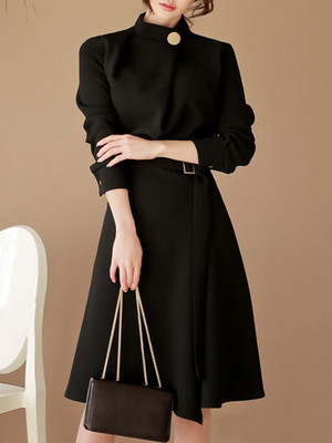【dress】Elegant design simple color formal dress