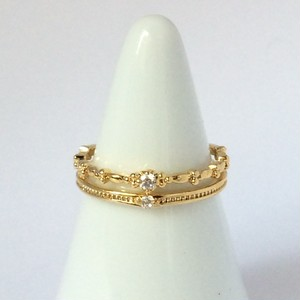 【 UNSEABLE 】CZ Ring Gold