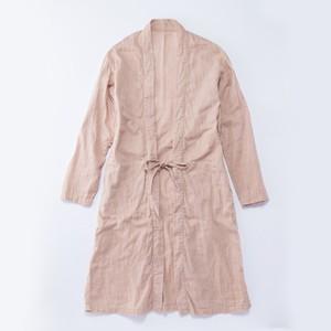 ▲受注生産▲CO-10 伊達羽織長丈 ヒノキ染 灰桜