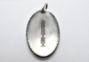 b-rogo engraving Shell-board Pendant